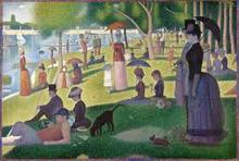 A sunday afternoon by Georges Seurat