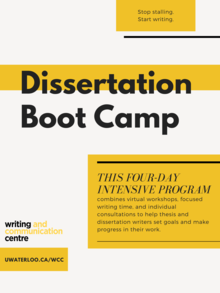 dissertation boot camp poster