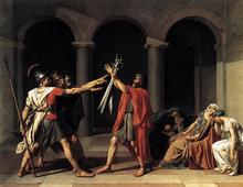 Oath of Horatii by Jaques-Louis David