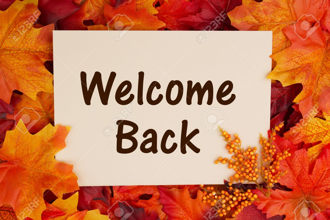 fall themed welcome back