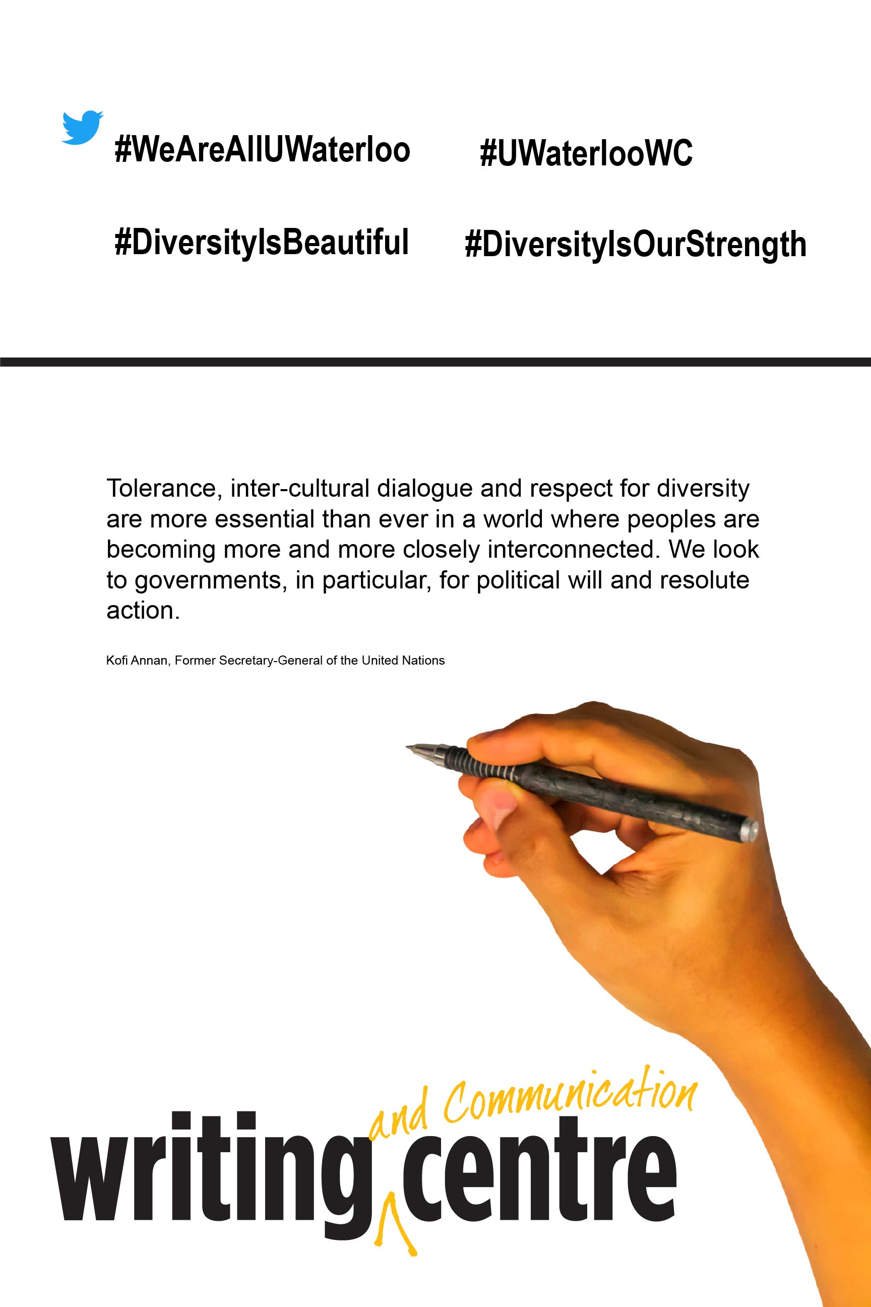 Quotation about tolerance and diversity by Kofi Annan, Former Secretary-General of the United Nations
