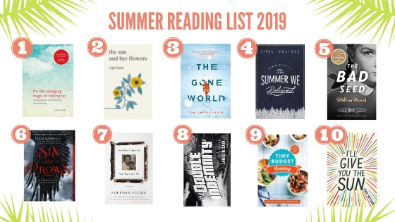 Top 10 summer reading list book selections.
