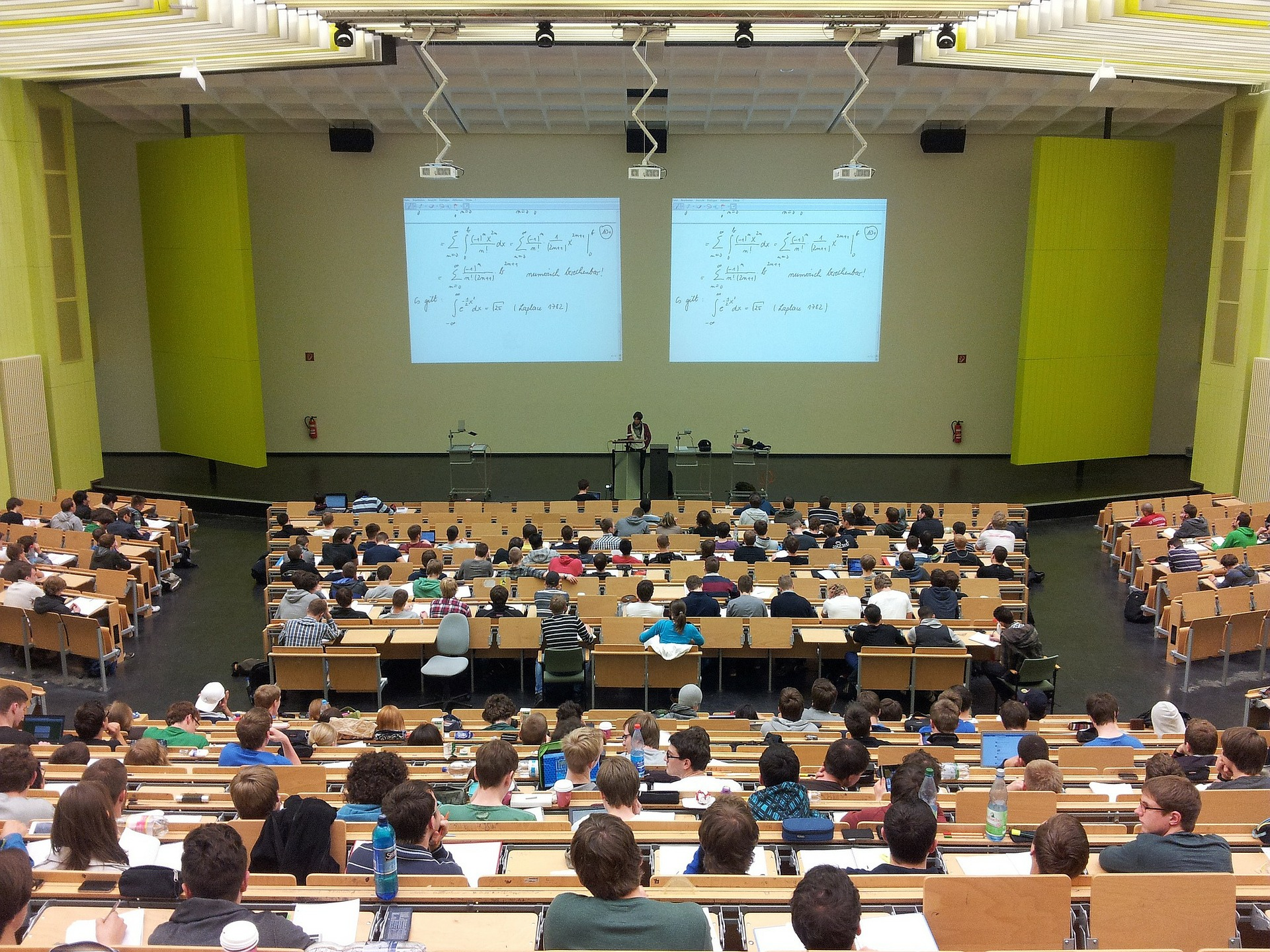lecture room of university students sitting